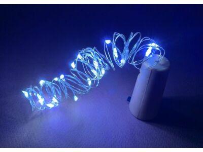 LED fényfüzér dugóval 20LED/2m - hideg fény