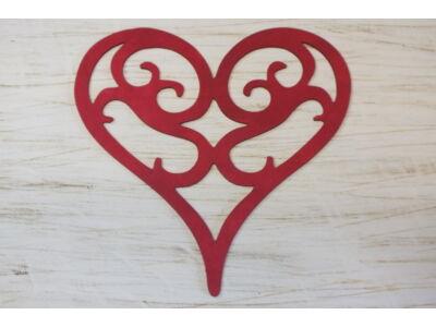 Fa vintage szív meggypiros 30cm