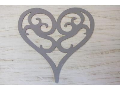 Fa vintage szív szürke 30cm