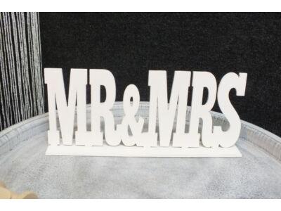 Mr & Mrs felirat talppal fehér 25cm