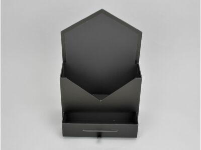 Boríték formájú papír virágtartó fiókkal fekete 64/#
