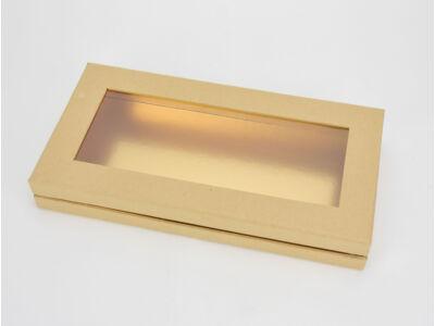 Lapos tégla papírdoboz arany belsővel natúr 60/#
