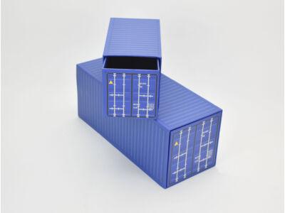 Konténer formájú papírdoboz szett 2db kék 32/#