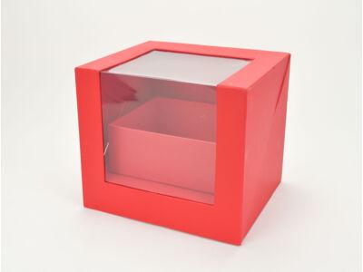 Felnyitható kocka papírdoboz fiókkal piros 12/#