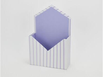 Boríték formájú papírdoboz lila csíkos 64/#