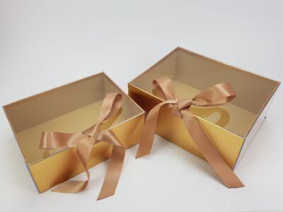 Delux ajándékdoboz - arany 2db/szett