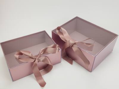 Delux ajándékdoboz - rózsaranyarany 2db/szett