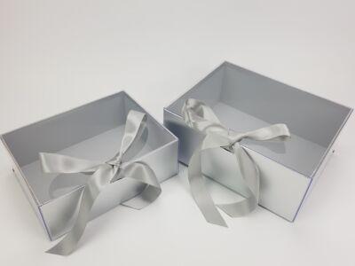 Delux ajándékdoboz - ezüst 2db/szett