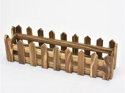 Fa kerítéses ládika hosszú barna 100/#