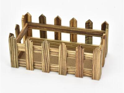 Fa kerítéses ládika tégla nagy barna 100/#
