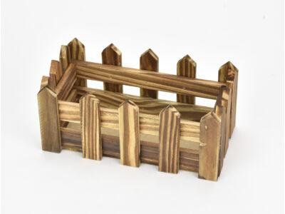 Fa kerítéses ládika tégla kicsi  barna 200/#