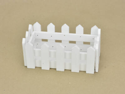 Fa kerítéses ládika tégla kicsi fehér 200/#