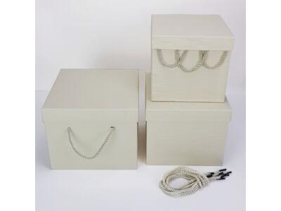 Kocka doboz szett krém 3db/szett