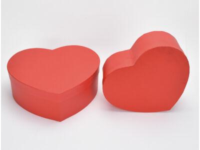 Papírdoboz szív alakú piros 2db/szett