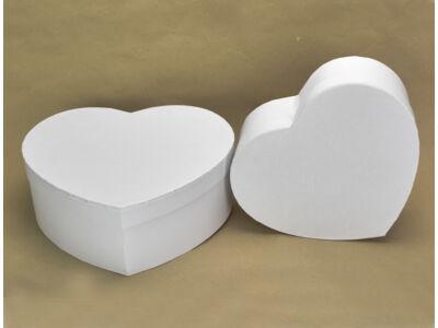 Papírdoboz szív alakú fehér 2db/szett