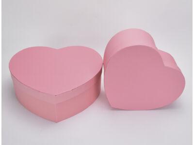 Papírdoboz szív alakú rózsaszín 2db/szett