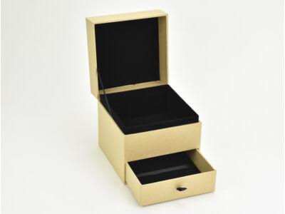 Fiókos doboz  kocka natúr