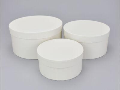Kerek papírdoboz krém 3db/szett