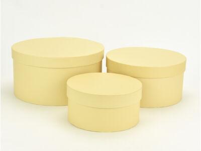 Kerek papírdoboz vanília 3db/szett