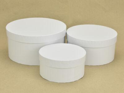 Kerek papírdoboz fehér 3db/szett