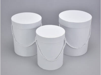 Henger doboz szett fehér 3db/szett