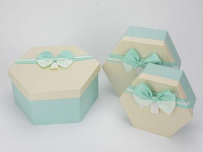 MENTA- krém tetővel papír doboz hatszög 3db