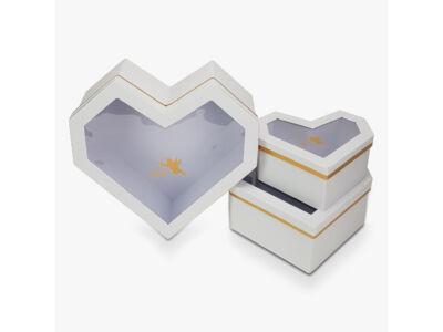 Gyémánt szív fehér 3db/szett 16/#