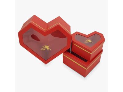 Gyémánt szív piros 3db/szett 16/#