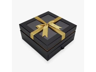 Aranymasnis fiókos kocka doboz fekete 24/#