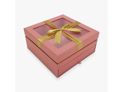 Aranymasnis fiókos kocka doboz rózsaszín 24/#