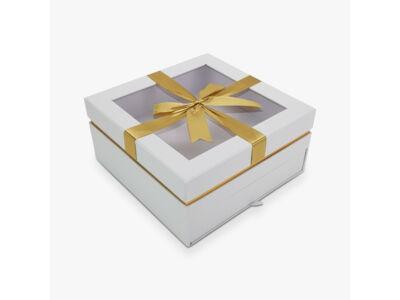 Aranymasnis fiókos kocka doboz fehér 24/#