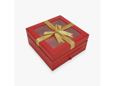 Aranymasnis fiókos kocka doboz piros 24/#