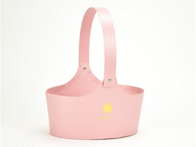 Papír virágtartó táska rózsaszín 60/#