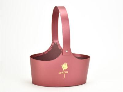 Papír virágtartó táska piros 60/#
