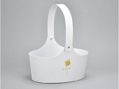 Papír virágtartó táska fehér 60/#
