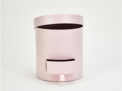 Papírdoboz henger fiókos rózsaszín 48/#