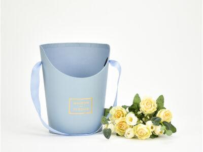 Papír virágtartó long kicsi kék 120/#