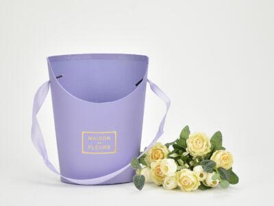 Papír virágtartó long kicsi lila 120 /#