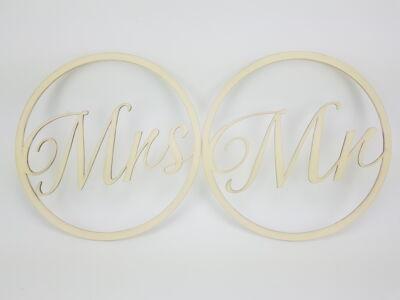 Mr&Mrs karika szett krém 2db