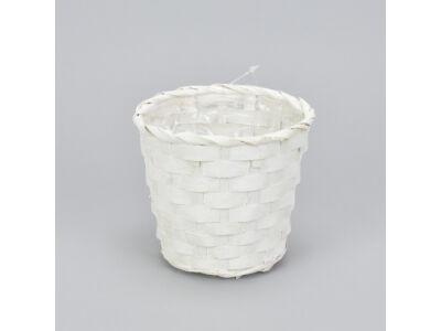 Bambusz kaspó fehér 12cm 500/#