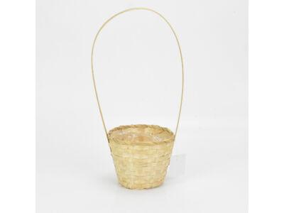 Bambusz füles kaspó natúr 14cm