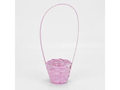 Bambusz füles kaspó rózsaszín 9cm  540/#
