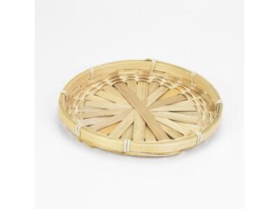 Bambusz tál lapos  20cm 450/#