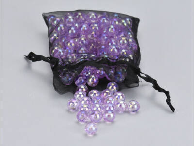 Gyöngyház gyöngy lila 10mm 85gramm