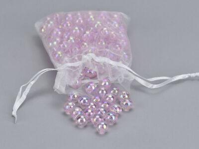 Gyöngyház gyöngy rózsaszín 10mm 85gramm