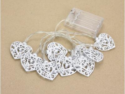 Világító girland dekoráció - szív 100/#