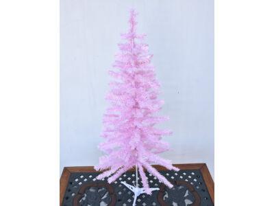Fenyőfa talppal rózsaszín 120cm