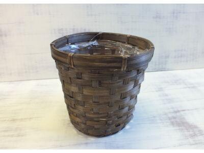 Bambusz kaspó peremes
