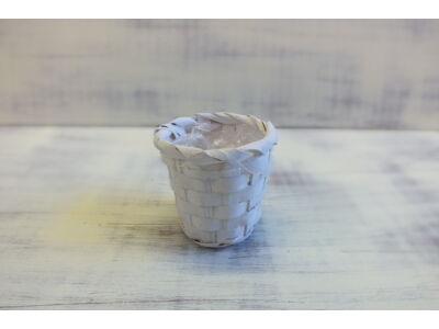 Bambusz kaspó fehér 7cm