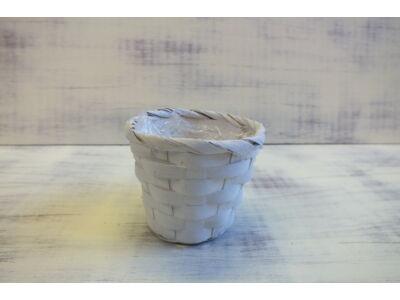 Bambusz kaspó fehér 9cm